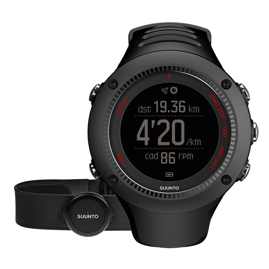 Suunto Ambit 3 Run - GPS Sportuhr - Black (HR)
