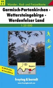 Wanderkarte Garmisch, Wettersteingebirge, Werde...