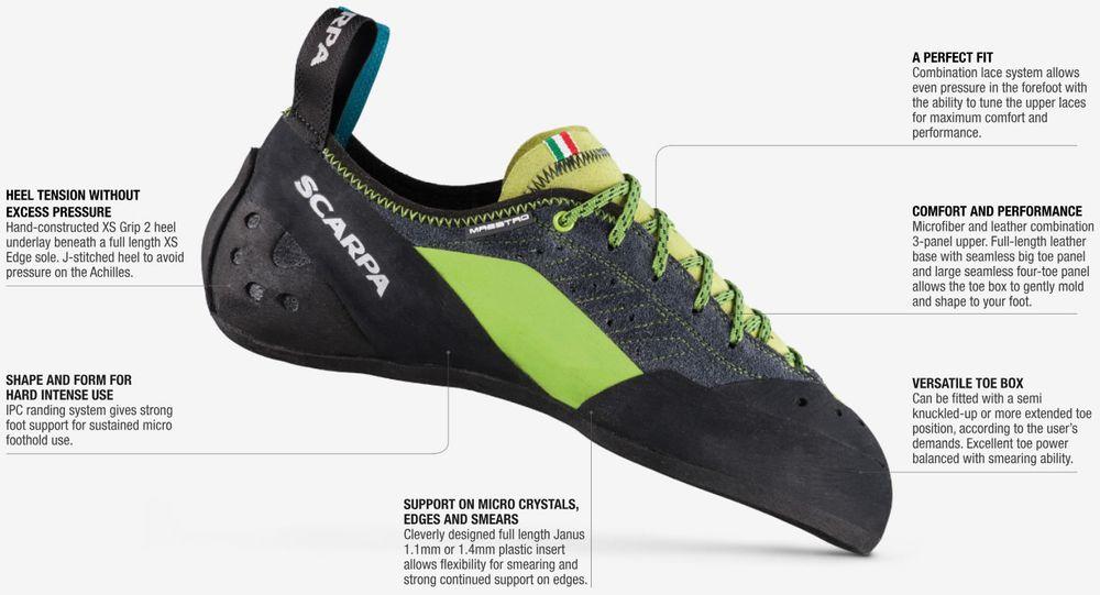 Kletterausrüstung Komplettset : Scarpa maestro eco kletterschuhe kletterausrüstung