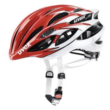 uvex Fahrradhelm race 1, rot-weiß