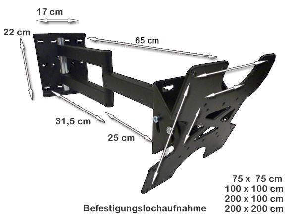 Wandhalterung Wandhalter Plasma 26 27 28 30 32 37 40 Zoll LCD TV schwenkbar neigbar Modell: L20