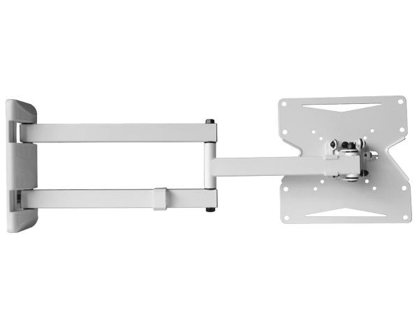 TV Wandhalterung 15 - 37 Zoll LED LCD Plasma TV Halterung Halter schwenkbar neigbar weiß  Modell: S89W
