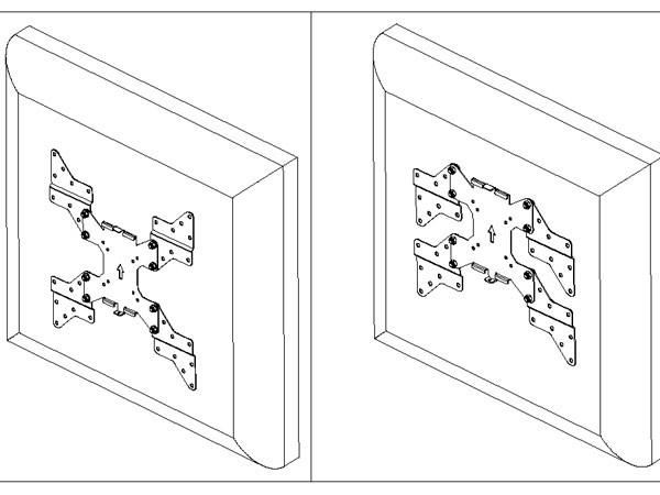 Monitor Wandhalterung VESA 400 LED LCD TV Halterung Halter schwenkbar neigbar Modell: S89B-AD7B