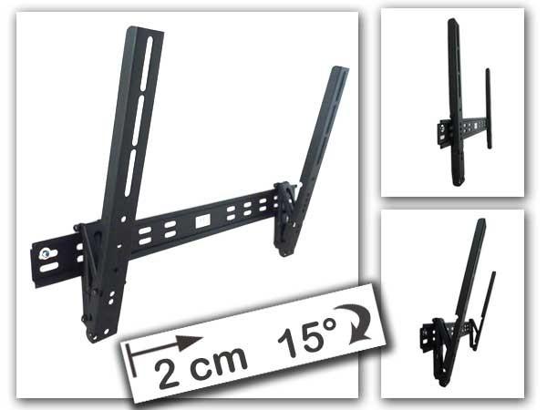 Wandhalterung TV TFT LCD Halterung LED neigbar 2cm Wandabstand 40-65 Zoll Vesa 400 Modell: L07