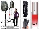 Boxenständer luftgefedert (2 Stück+Tasche) Stative Ständer f. Boxen & Lautsprecher Modell: BSH2