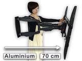 TV Monitor Wandhalterung Halterung LED LCD Plasma 32 -50 Zoll  VESA 100-400 ausziehbar 70,6 cm Modell: S90