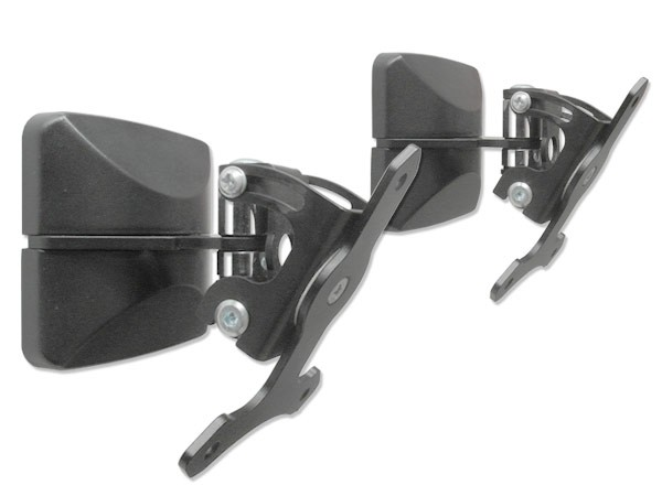 2 wall mounts for speakers bracket tilt / swivel bracket black