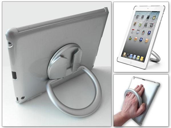 Aufsteller für iPad 2, 3, 4 Standhalterung & Handheld Halterung Portrait/Landscape Modell: IP8