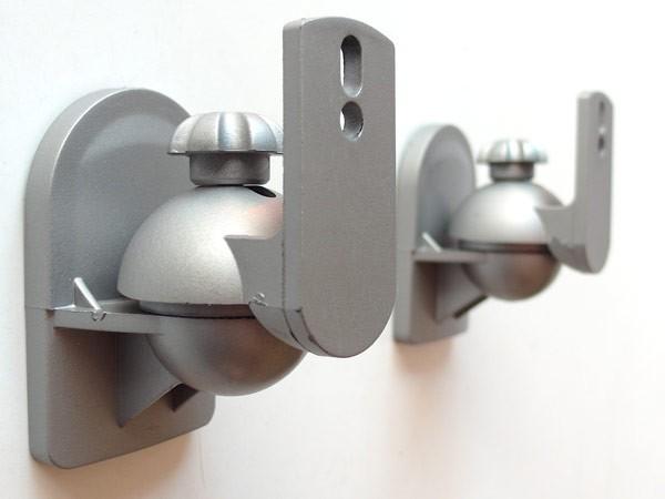2 Stück Halter Boxen-Halterungen Lautsprecher Befestigung Lautsprecherhalter silber Modell: BH4S