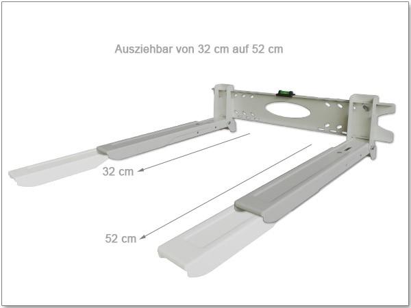 Universal Wandhalterung Halter Mikrowelle Lautsprecher Boxen Bluray Media Player silber Modell: H75S