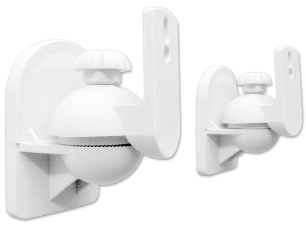 2 Stück Halter Speaker-Halterungen Lautsprecher Befestigung Lautsprecherhalter weiß Modell: BH4W