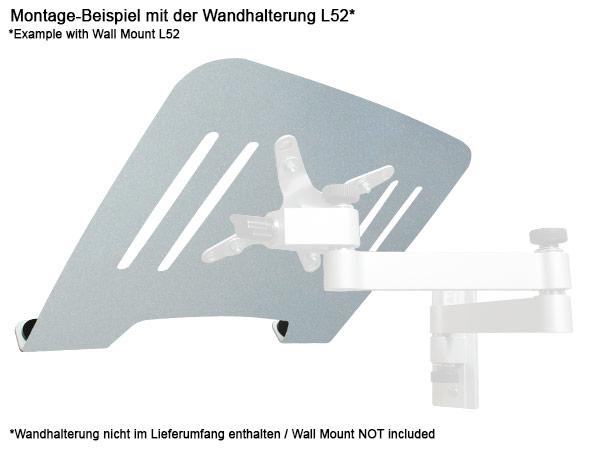 Universal Halterung Laptop Notebook Netbook Befestigung an Wandhalterung VESA 75 Modell: IP3V