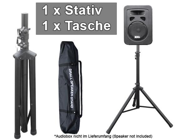 Boxenständer Stativ Ständer für Audio Boxen Lautsprecher Speaker und Transport Taschen Modell: BS3V