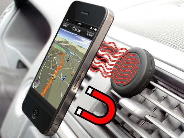 Handy Smartphone Halterung magnetisch KFZ Lüftung Autohalterung iPhone Samsung Android Modell: MH01