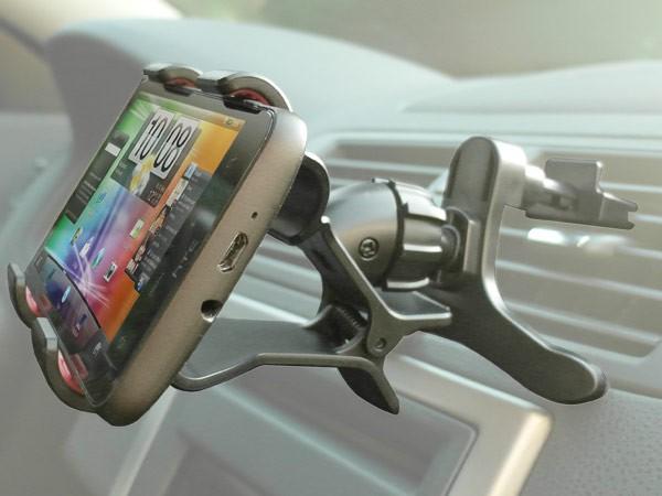 handy smartphone halterung am l ftungsschlitz mit klemme. Black Bedroom Furniture Sets. Home Design Ideas