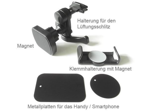 Magnetische Handyhalterung Lüftungsgitter Smartphone Magnet Klemme Ventilation Armatur KFZ Modell: IP23