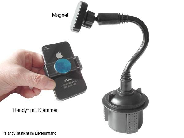 Magnetisch Handy Halterung flexibel Getränkehalter variabel KFZ LKW Campingwagen Modell: IP26