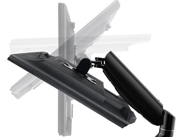 TV PC Tisch-Halterung Gasfeder 360° Grad individuell einstellbar LCD TFT (VESA 75, 100) Modell: LT12Q
