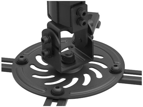 Universal Beamer Projektor Deckenhalterung Dachschräge variabel neigbar drehbar schwarz Modell: B26B