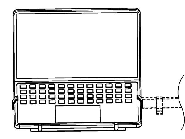 Adapterplatte Halterung für Laptop Notebook Netbook an Wandhalterung Halterplatte VESA 100 Modell: IP27W