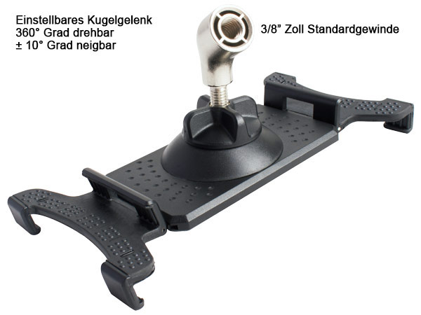 Handyhalterung + Mikrofonständer Universal Smartphones Tablet PC Standardgewinde Modell: IP01-MS4