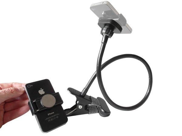 3 in 1 Kombi-Set Handy Halterung Feder Klammer Magnet Halterung Schwanenhals Modell: IP16B-MH0304