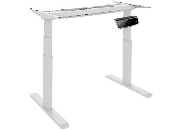 Elektrisches Tischgestell weiß Doppelmotor Anti-Kollision höhenverstellbar Display Modell: M06-23D-W
