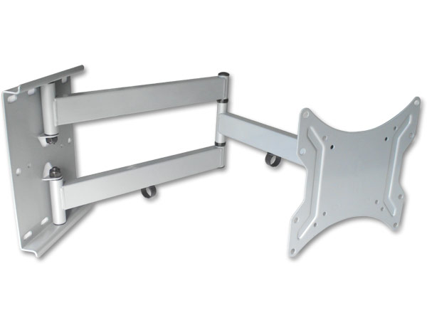 Monitor TV PC Wandhalterung silber-grau bis 65 cm ausziehbar VESA 100, VESA 200 schwenkbar LED LCD TFT TV PC Modell: L22S