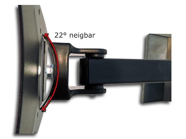 Wandhalterung PC+TV TFT LCD LED 180° schwenkbar/neigbar 15 - 26 Zoll Schwarz Modell: S67