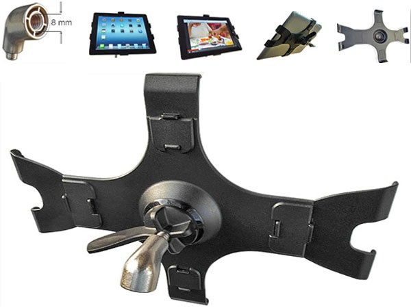 Tablet - Pc Mount + Microphone Tripod (For for iPad 1 2 3 and 4te Generation)