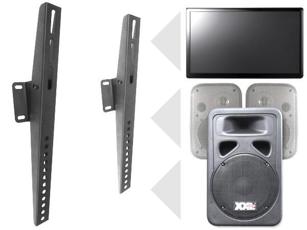 TV Monitor Wandhalterung Universal bis VESA 800 schwarz (2 Stück) Modell: S88