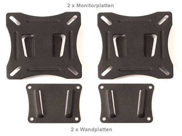 2 Stück Wandhalterung für Monitore oder Boxenhalter Halterung flach für Lautsprecher Modell: L64x2