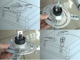 Projector-Ceiling Mount Projector Holder Ceilin Holder Wall Mount Projector B11 Bild 8