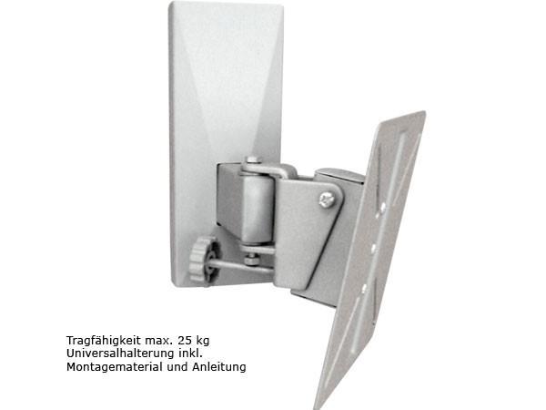 Wandhalterung Gelenkkopf justierbar über Drehschraube VESA 75 100 Modell: L66