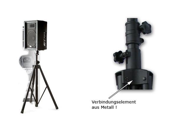1 x Lautsprecher Stativ höhenverstellbar von 1,25 m bis 2,10 m für Bühne, Proberaum, HiFi, Party, Disco, PA, DJ  Modell: BS0