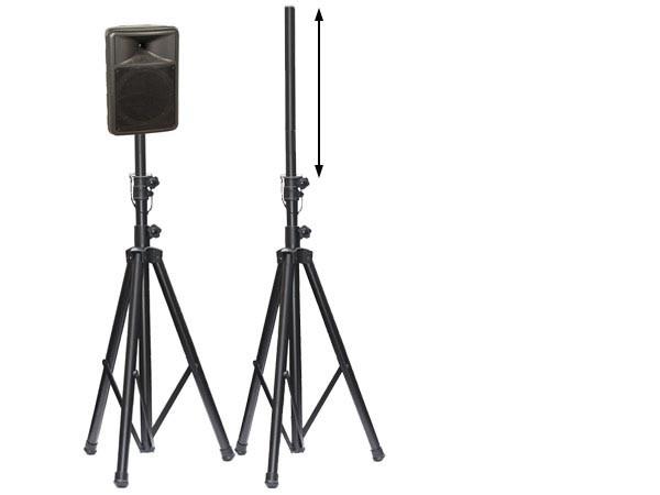 1 x Boxenständer (1,25 - 2,10 m) Stativ Ständer für Boxen Lautsprecher Modell: BS0