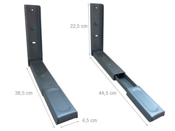 wandhalterung mikrowelle mikrowellenhalterung lautsprecher halterung ausziehbar modell h71v. Black Bedroom Furniture Sets. Home Design Ideas