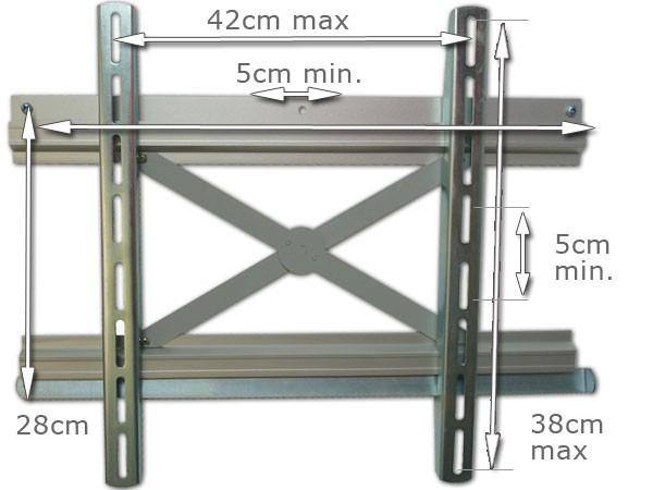 Wandhalterung LED LCD Plasma Halterung flach 30 - 70 Zoll TV Monitor Modell: P37