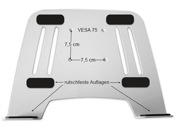 Wandhalterung + Adapterplatte für Laptop Notebook Netbook Tablet Halterung Halter Modell: L52S-IP3W
