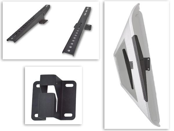 2 Stück Universal Wandhalterung für Monitore Audio Boxen neigbar schwarz Modell: S88N