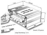 Mini-Endstufe Verstärker f. Wohnungen, Motoroller, Motorrad, Auto, MP3-Player Schwarz Modell: EN4B Bild 6
