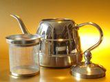 Teekanne 1 Liter Vollmetall Tee Kanne Kaffeekanne Teebereiter Teegeschirr m. Metallsieb Modell: TC03 Bild 2