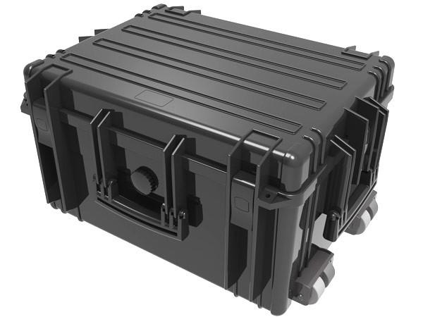 Extra großer Transport Trolley Koffer Waterproof Case 634 x 485 x 342 mm Black Kunststoff-Box Foto Film Camping Outdoor Boot Survival wetterfest staubdicht stossfest Modell: WPC06