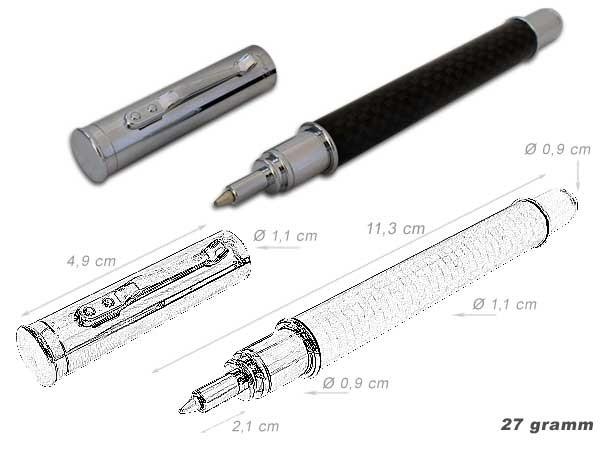 YUMA K. Tintenroller Business-Line Kevlaroptik Mine sz Druckverschluss Modell: TRK