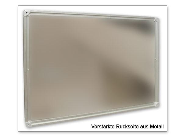 2 Stück Whiteboard 100 x 50 cm (= 100 x 100 cm oder 200 x 50 cm) Magnetafel Pinnwand Modell: WB12x2