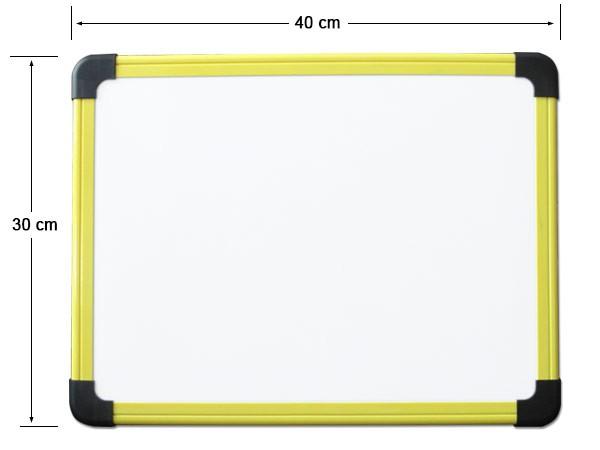 Whiteboard Weisswandtafel 40 x 30 cm Magnetafel Schreibtafel Pinnwand Gelb Modell: KB02Y