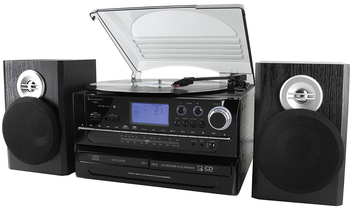 soundmaster musikcenter mit cd brenner schallplatte cd. Black Bedroom Furniture Sets. Home Design Ideas