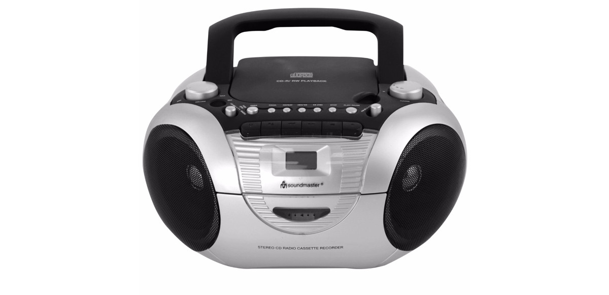 soundmaster radio cd kassette recorder boombox schwarz scd. Black Bedroom Furniture Sets. Home Design Ideas