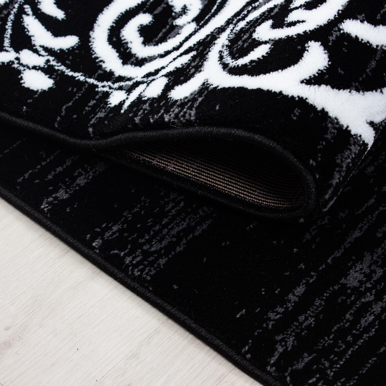 Schwarz Weiß Im Arbeitszimmer: Teppich Modern Designer Wohnzimmer Versace Muster Barock