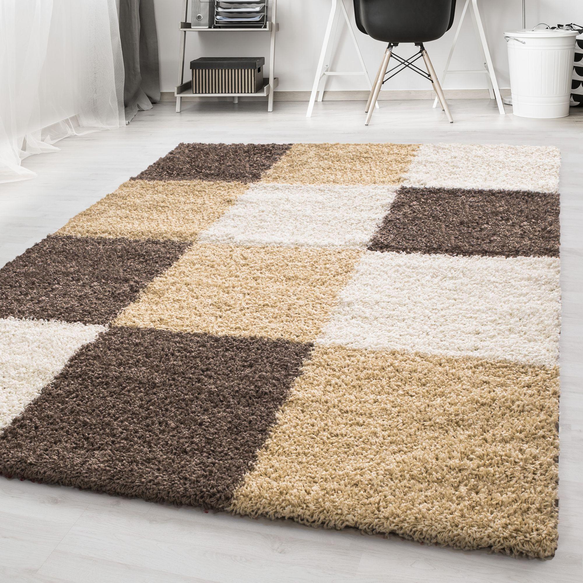 Designer Shaggy Area Rugs Long Pile